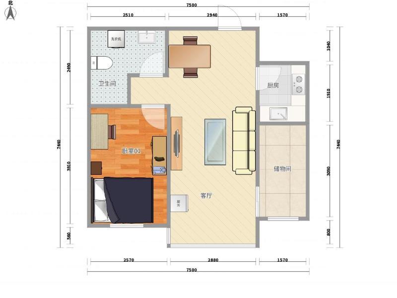 霍營矩陣三期整租房源戶型圖