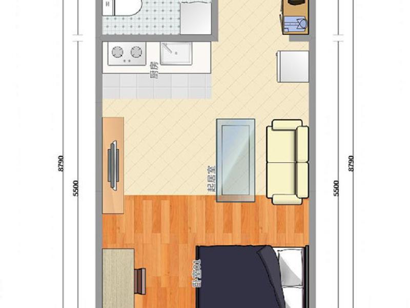 亚运村风格派整租房源户型图