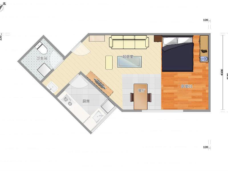 霍營矩陣二期整租房源戶型圖